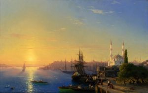 Айвазовский Иван Вид Константинополя и Босфорского залива