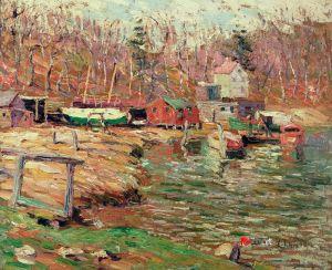 Лоусон Эрнест Harlem River Scene