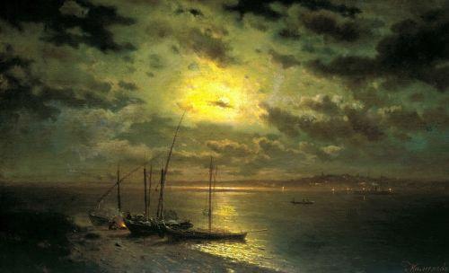 Місячна ніч на річці