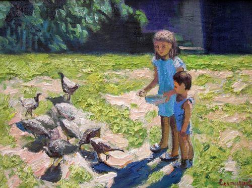 Дети и индюки