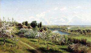 Сергеев Николай Яблони в цвету