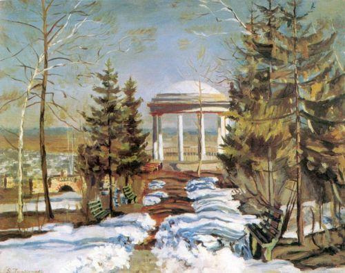 Рання весна (Альтанка в парку)