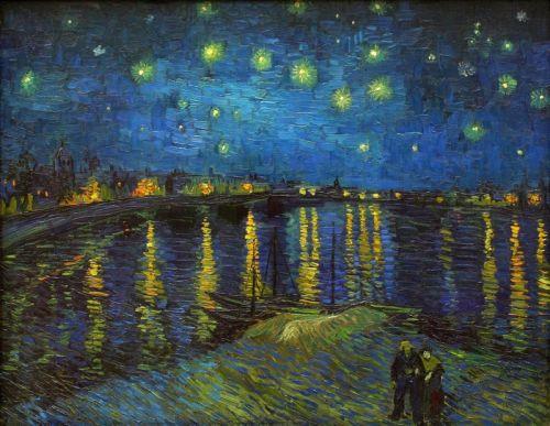 Звездная ночь над рекой Рон
