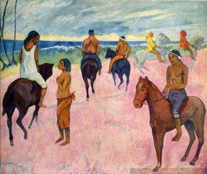 Гоген Поль Всадники на пляже