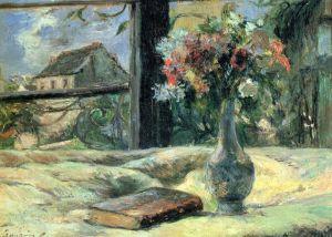 Гоген Поль Ваза с цветами на окне