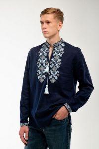 Мужские вышиванки Вышиванка мужская Спадок темносиняя