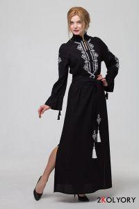 """Платье вышиванка """"Роксоляна"""" черная"""