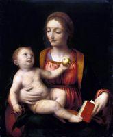 Мадонна з немовлям, що тримає яблуко