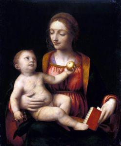 Возрождение Мадонна с младенцем, держащим яблоко