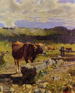 Символизм Brown Cow in the Waterhole