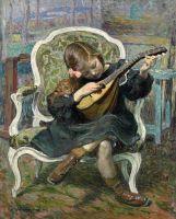 Девочка с мандолиной (Март Лебаск)
