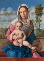 Мадонна и младенец в пейзаже