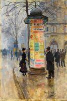 Парижская уличная сцена