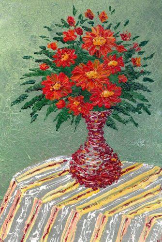 Цветы в вазе - изображение 1
