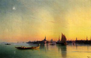 Айвазовський Іван Захід сонця над Вениціанською лагуною