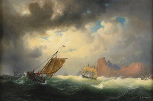 Корабль на бурном море
