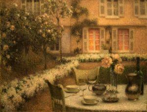 Ле Сиданэ Анри Стол в белом саду