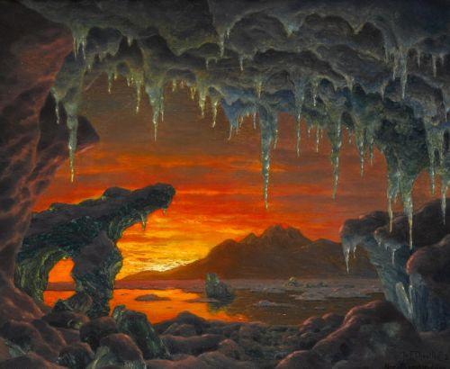 Декоративная модель арктической пещеры