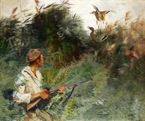 Охотник в камышах