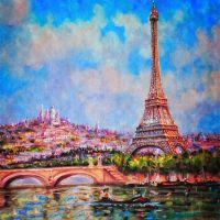 Ейфелева вежа і Сакре-Кер у Парижі 2