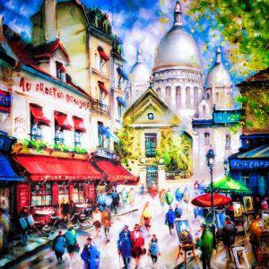 Сакре-Кер и Монмартр в Париже