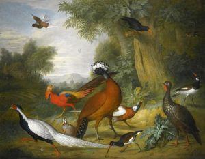 Барокко Птицы в пейзаже