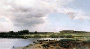 Каменев Лев Вид на реку Казанку