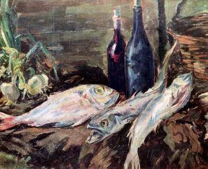 Коровин Константин Натюрморт с рыбами