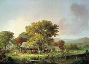 Дуррие Джордж Генри Осень в Новой Англии, изготовление сидра