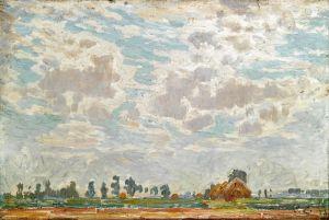 Клаус Эмиль Облачное небо над бельгийским домом