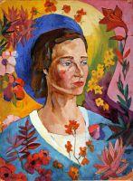Портрет неизвестной в голубом платье