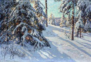 Шультцберг Ансельм Солнце в лесу, мотив из Сторхейдена