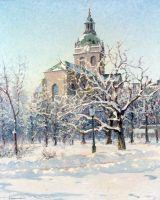 Стокгольм. Церковь Святого Якоба в зимнем облачении