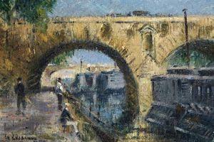 Луазо Гюстав Рыбаки у моста Мари