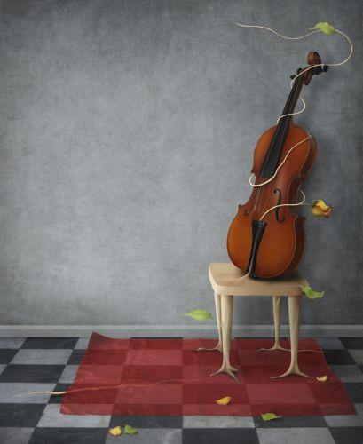 Скрипка на стільці