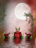 Цветочно-чайный натюрморт