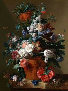 Хейсум Ян ван Ваза с цветами 3
