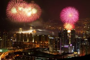 Пусан фестиваль с фейерверками