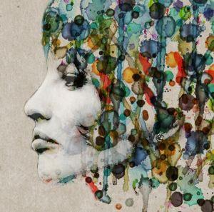 Портрет девушки в абстрактном стиле