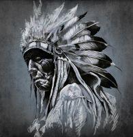 Портрет індіанця