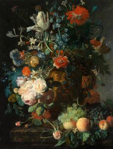Хейсум Ян ван Натюрморт с цветами и фруктами