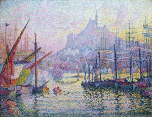 Синьяк Поль Вид на Порт Марсель