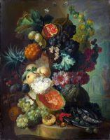 Фрукты, цветы и рыба