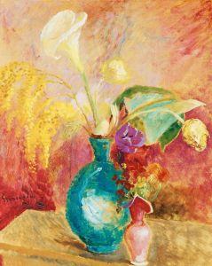 Экспрессионизм Натюрморт с цветами в вазе