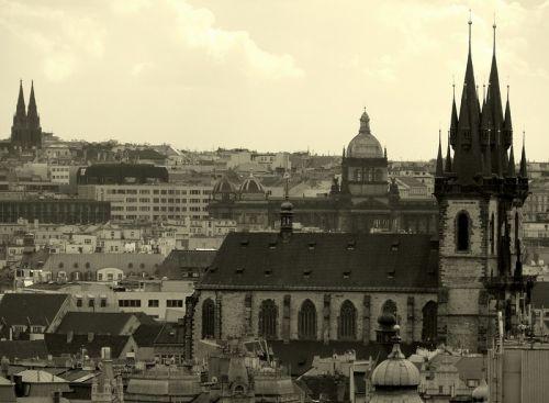 Вид на Прагу, Чехія