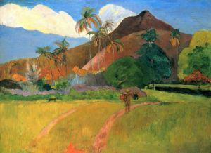 Гоген Поль Таитянские горы