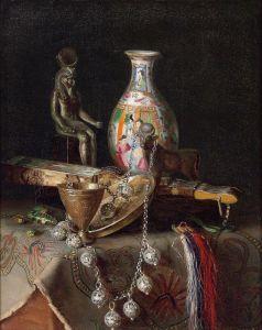 Шарлемон Гуго Натюрморт с декоративными предметами