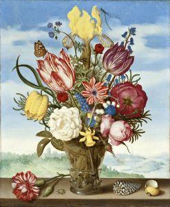 Букет цветов на выступе