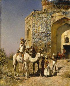 Уикс Эдвин Лорд Старая мечеть с голубой плиткой, Возле Дели, Индия