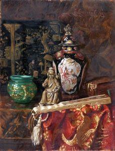Черноцкий Эрнст Натюрморт с декоративными китайскими предметами 2